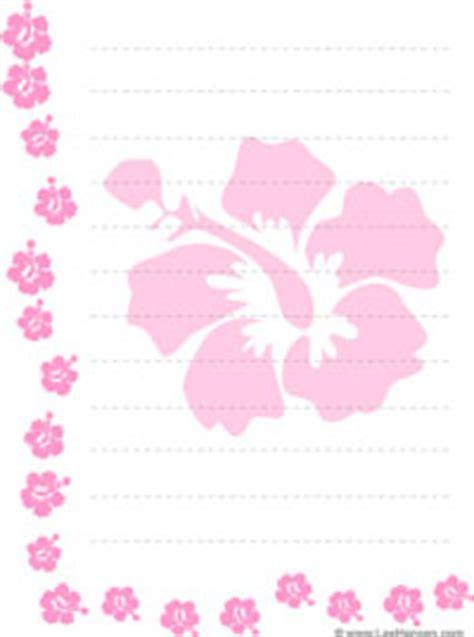 printable hawaiian letters printable tropical flowers border paper