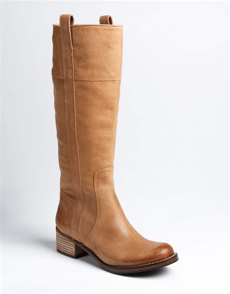 boots brands lyst lucky brand hibiscus boots in brown