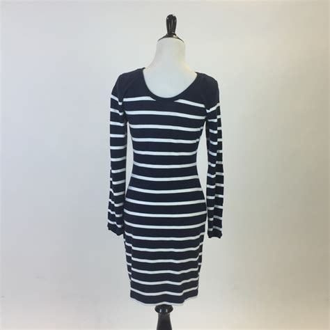 Zara Sleeve Bodycon 40 zara dresses skirts navy striped sleeve