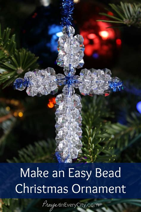 invocation christmas decorations make an easy bead cross ornament prayer in every city