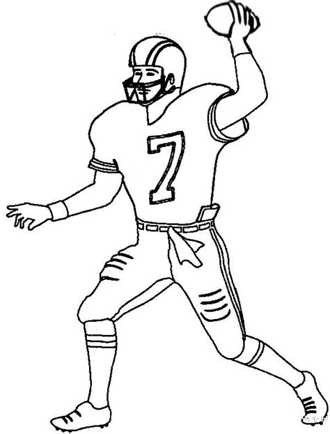 coloring page of a football player coloring pages football players 23729 bestofcoloring com