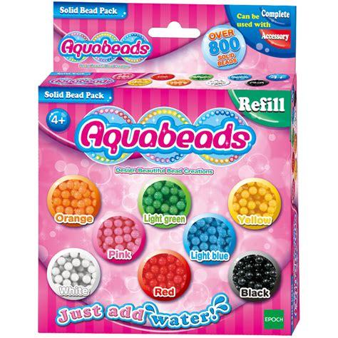 aqua refill aquabeads solid bead refill 800 bead pack new ebay