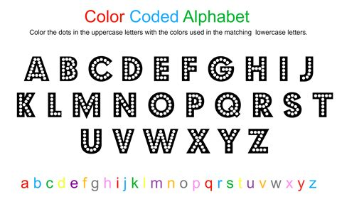 four letter colors coloring pages color coded to print coloring home