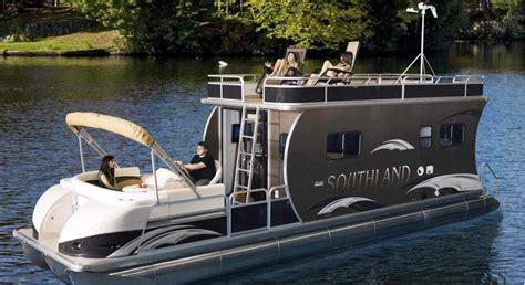 luxury cabin boats catamaran pontoon boat outboard double terrace deck