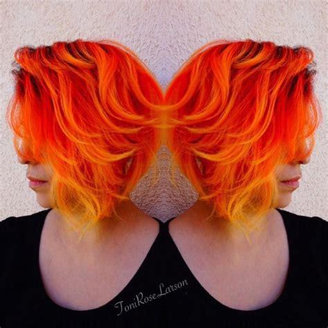 bright orange hair color 540 best hair images on pinterest short films short