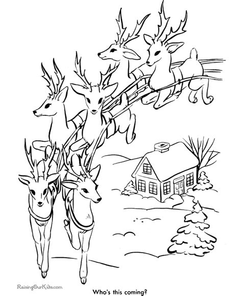 coloring pages for christmas reindeer santa s reindeer christmas coloring pages 006