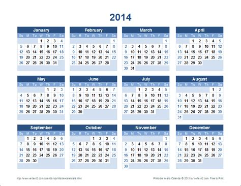printable calendar 2014 yearly free printable calendar printable monthly calendars