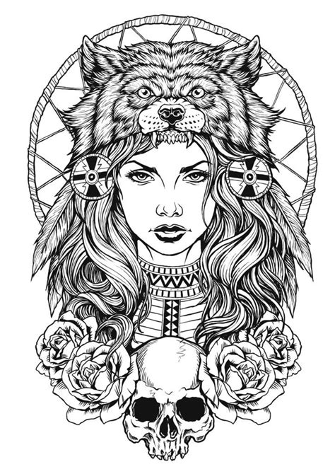 indian wolf tattoo best 25 headdress ideas on