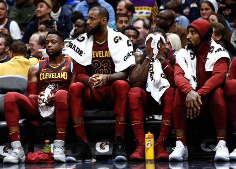 lebron on the bench lebron preaches patience after cavaliers fall to 3 3 nba com