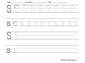 tracing and writing letter s worksheet