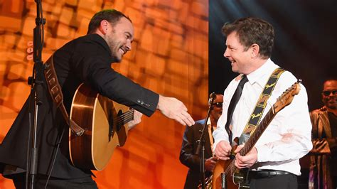 dave matthews fan club michael j fox slays guitar solo while jamming with dave