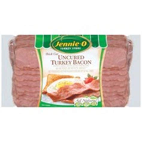Turkey Bacon Shelf by Jennie O Bacon Uncured Turkey Thick Cut All