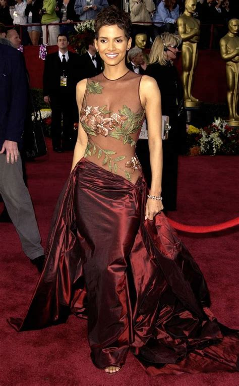 Frock Horror Of The Week Halle Berry by Oscar Win Gown From Halle Berry S Best Looks E News