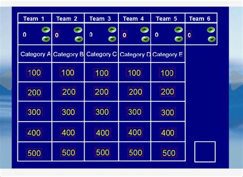 jeopardy powerpoint template 6 categories blank jeopardy template powerpoint jeopardy template