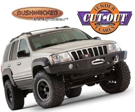 Jeep Wj Fender Flares Bushwacker 10926 07 Front Rear Cut Out Fender Flares For
