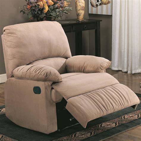 coaster recliners brown recliner recliner chair microfiber recliner