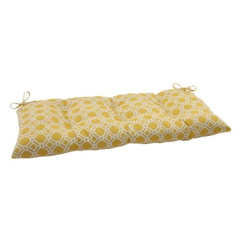 yellow bench cushion pillow perfect indoor outdoor rossmere yellow swing bench