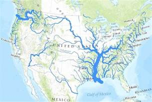 map with lakes usa river map einfon