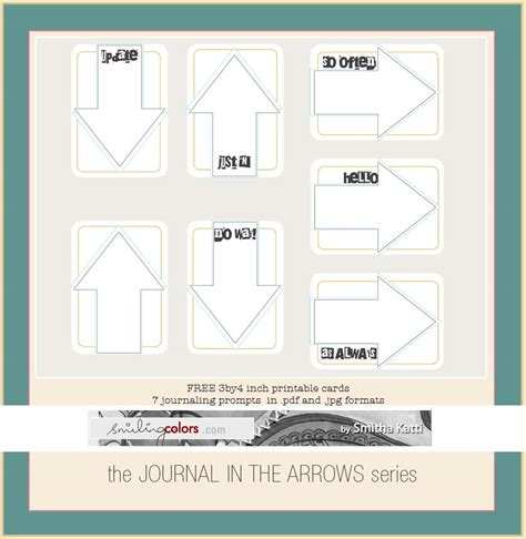 printable number arrow cards freebie printable journal in arrow cards smiling colors