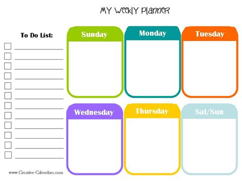 weekly daily planner template 10 weekly planner templates word excel pdf formats