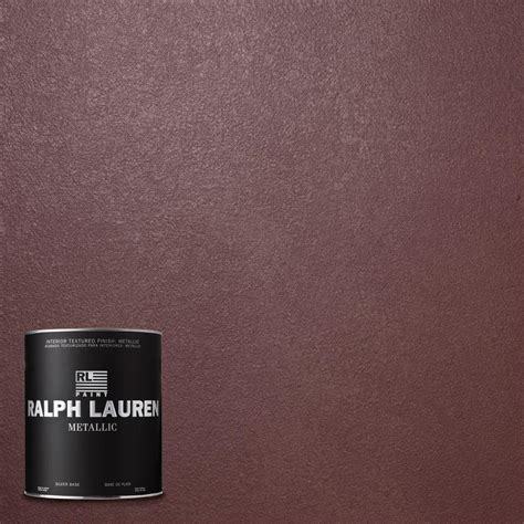 ralph lauren paint collection ralph 1 qt monarchy metallic specialty finish interior paint me116 04 the home depot