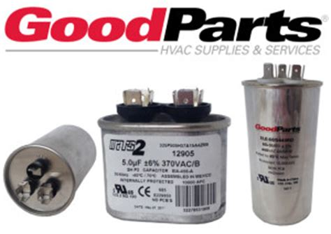 goodman ac parts capacitor goodman dual capacitor cap050500440rts cap050500440rtp 50 5 mf 440 vac janitrol repair parts