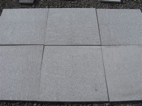hardstone light grey granite paving slabs mixed size