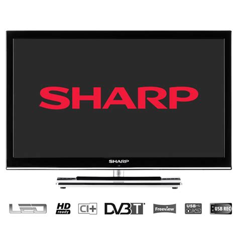 Lcd Tv Usb sharp lc24le250kbk open box led backlight television 24 hd ready lcd tv usb ebay