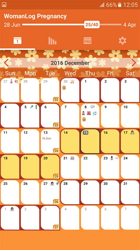 pregnancy calendar womanlog pregnancy calendar android apps on play