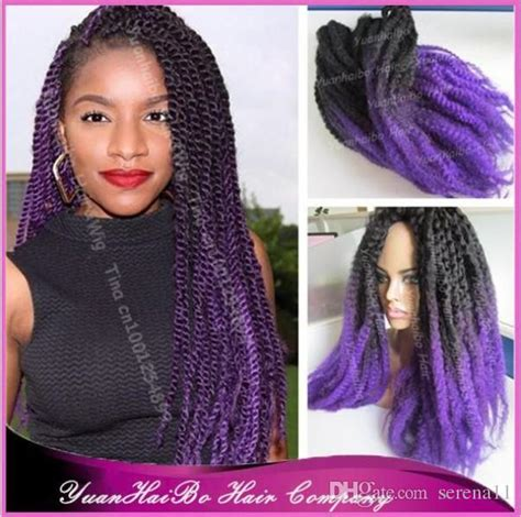 ombre marley hair purple 2016 synthetic ombre marley twists braiding hair colored