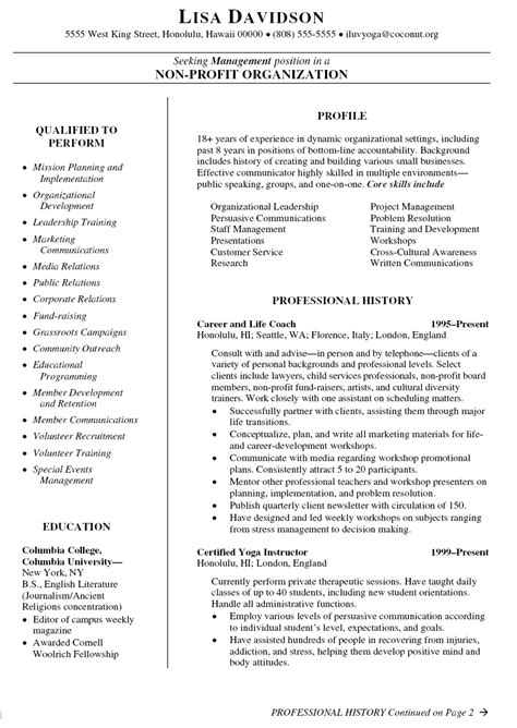 coach resume template sle cover letter sle resume coach