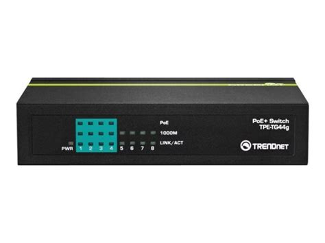 Trendnet Tpe Tg44g Poe trendnet tpe tg44g 8 port greennet gigabit poe switch 4 poe 4 non poe ebuyer