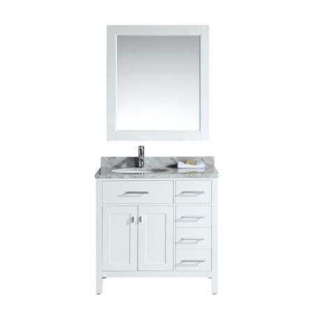 36 X 22 Vanity Top by Design Element 36 In W X 22 In D Single Vanity In