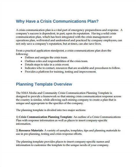 Free Communication Plan Templates 37 Free Word Pdf Documents Download Free Premium Templates Corporate Crisis Management Plan Template