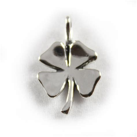 four leaf clover lucky charm sterling silver charms