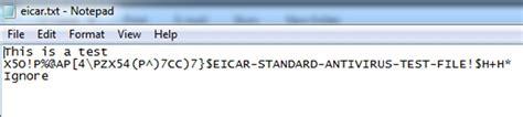 eicar test testing for anti virus on file upload explore security