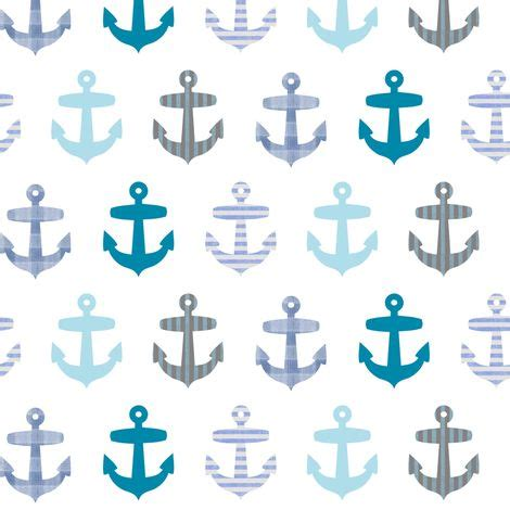 fabric pattern anchor nautical blue anchor pattern on white fabric by