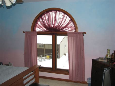 Window Treatments For Arched Windows Decor Interior Fitted White Sheer Curtain Shades With Plus
