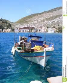 greek fishing boat plans greek island fishing boat stock image image of color
