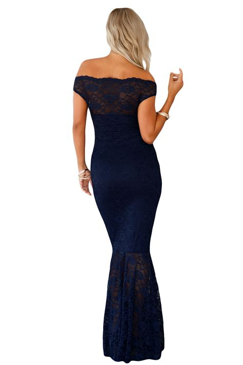 bardot lace fishtail maxi dress evening ceremony formal festive summer zip ebay