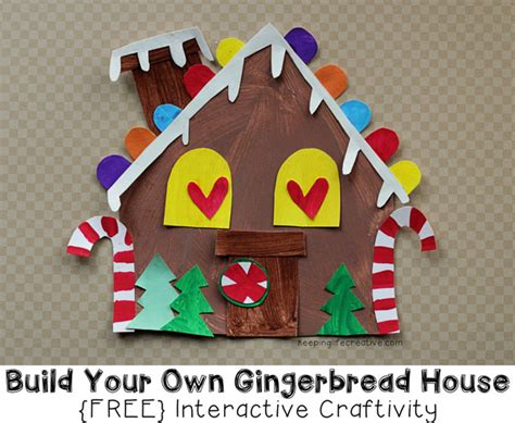 Gingerbread House Paper Craft - build your own gingerbread house craft for