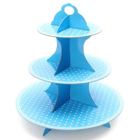 Cupcake Stand Rak Cupcake 3 Tier Edisi Birthday T45 L30 3 tier cardboard cupcake stand plates birthday cake muffin holder ebay