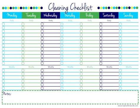 Cleaning House Cleaning House Checklist Printable Schedule List Template