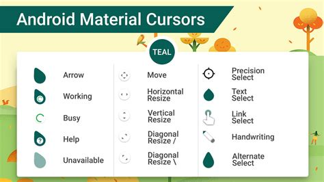 android cursor android material cursors teal by mj lim on deviantart