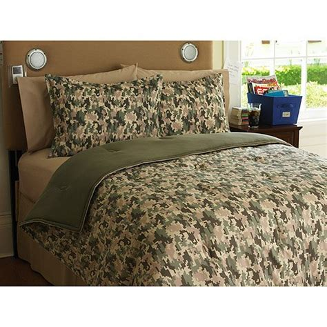military bedding boys military khaki camouflage twin comforter set sham