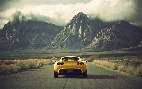 Landscape Photography Vehicle Mountains Landscapes Cars Lotus Elise Lotus Yellow