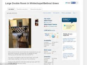 gumtree looking for room househunter horrified when bethnal green room to let turns out to be shed daily mail