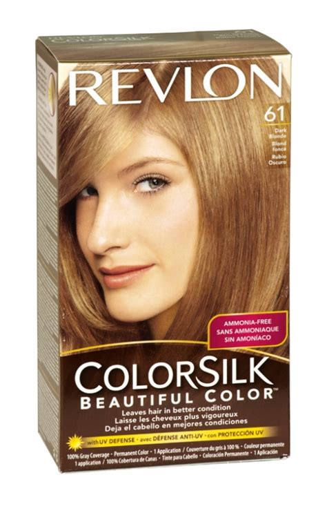 what hair colour age 61 revlon colorsilk hair colour 61 dark blonde