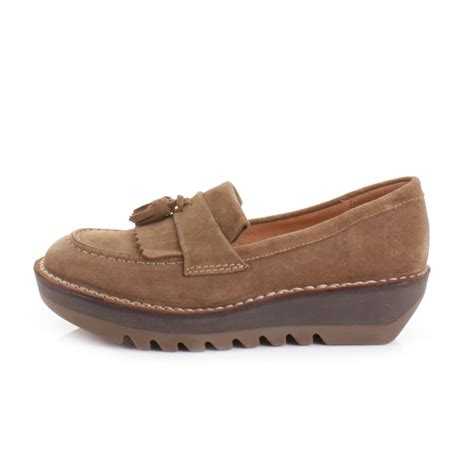fly loafers womens fly juno flatform desert suede shoes loafers