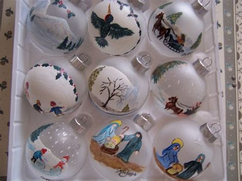 hand painted christmas ornaments personalize designs in